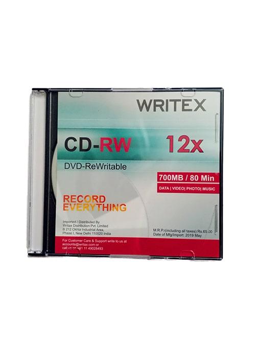 Writex CD-ReWritable 12x (700 Mb   80 Min, Pack of 4)