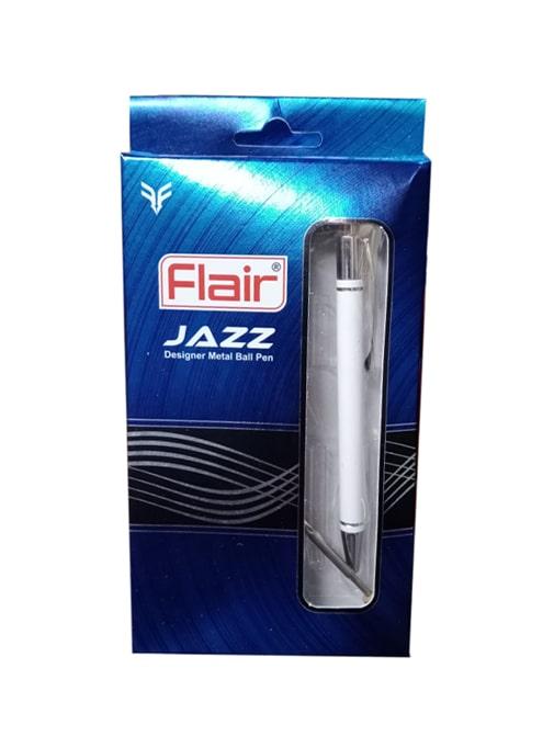 Flair Jazz Metal Ball Pen Blue (Pack of 2)