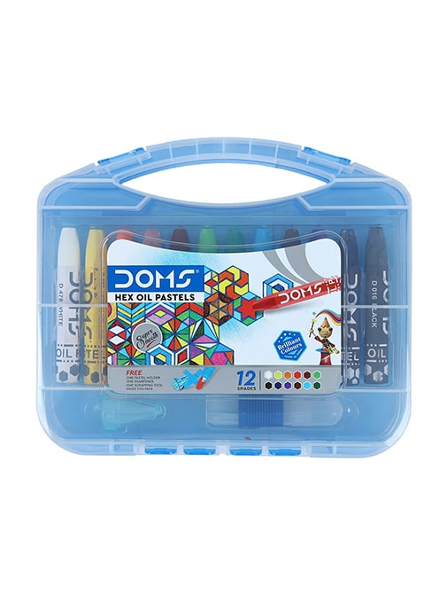 Doms Hexagonal Oil Pastels (12 Assorted Shades)