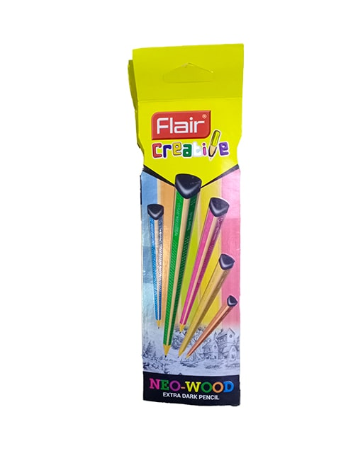 Flair Creative Neo-Wood Extra Dark Pencil (Pack of 2)