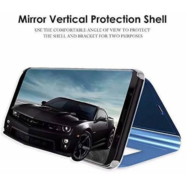 zekaasto Mi 7, Mirror Flip Cover Black, Duel Protection, Luxury Case, Comfortable Standing View Display, Clear View.
