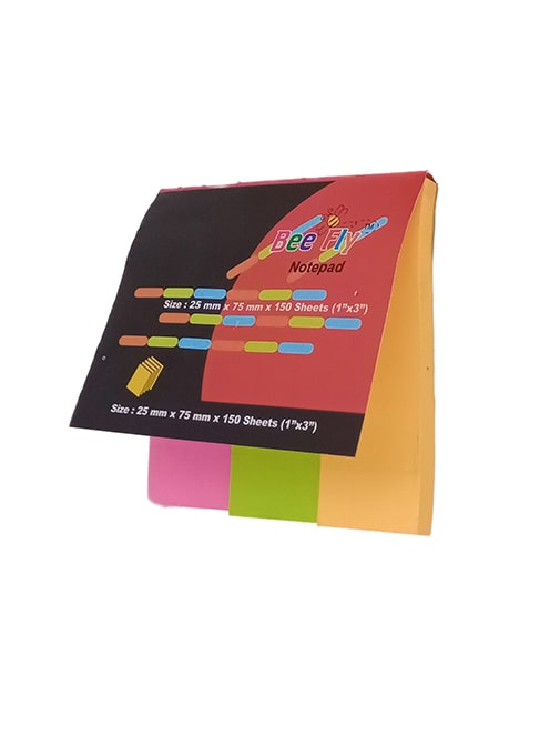 Bee Fly Sticky Notepad (Pink, Green, Orange, 1