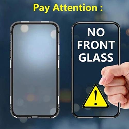 Zekaasto Samsung Galaxy A70, Electronic Auto-Fit, Full Protection, Magnetic Transparent Glass Case (Black)