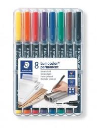 staedtler-lumocolor-318-permanent-pen-fine-0.6mm-8-shades