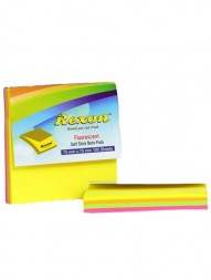 rexon-flourescent-self-stick-notepad-assorted-colors-75-x-75-mm-100-sheets-pack-of-21140