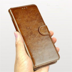 zekaasto-oneplus-7-pro--cover-brown-unipha-flip-cover-duel-protection-standing-view-storage-slots-brown-dual-protection964