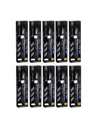 linc-glycer-10x-ball-pen-black-ink-0.7-mm-black-body-pack-of-10
