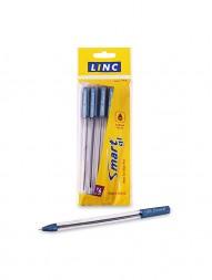 linc-smart-gl-ball-pen-blue-ink-0.6-mm-transparent-body-pack-of-5248