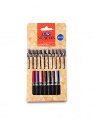 linc-signetta-ball-pen-blue-ink-0.7mm-multicolor-body-pack-of-10-257
