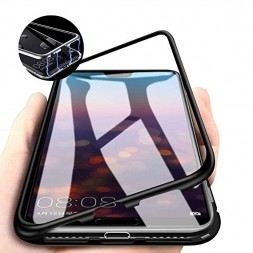 zekaasto-samsung-galaxy-a70-electronic-auto-fit-full-protection-magnetic-transparent-glass-case-black1010