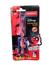 unomax-disney-incredibles-2-fountain-slim-ink-pen-free-2-jumbo-ink-cartridges1172