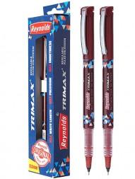 reynolds-trimax-refillable-fluid-ink-gel-pen-red-ink-0.5mm-pack-of-21021